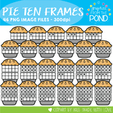 Pie Ten and Twenty Frame Clipart