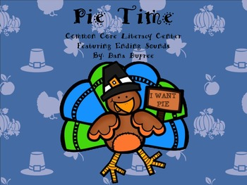 Pie Time--Ending Sound Literacy Center