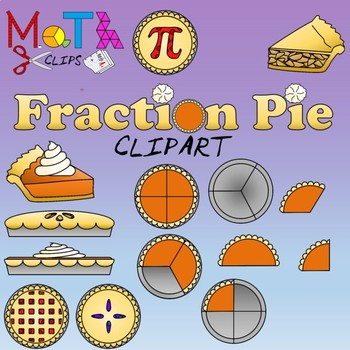 Pie and Pie Fractions Clipart