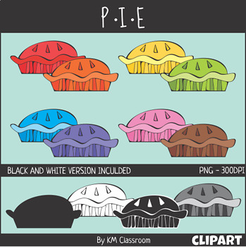 Pie in Rainbow Colors Food ClipArt Thanksgiving