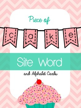 Piece of Cake Sight Word & Alphabet Cards