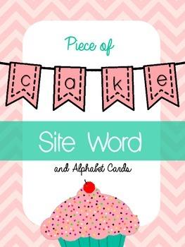 Piece of Cake Sight Word & Alphabet Cards {FREEBIE}