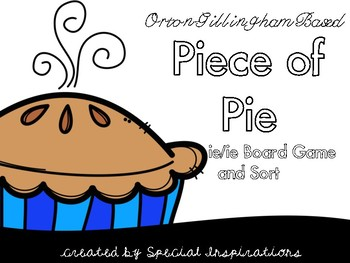 Piece of Pie Sounds of ie Board Game and Sort Orton-Gillingham