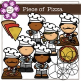 Piece of Pizza Digital Clipart (color and black&white)