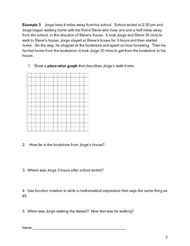 Piecewise and Absolute Value Functions Lesson 1 of 7