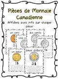 Pièces de Monnaie Canadienne (French coin posters)