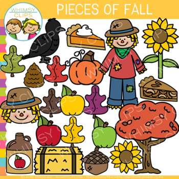 Pieces of Fall Clip Art