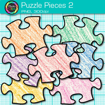 Pieces of Puzzle Clip Art {Brain Teasers, Geometry Games & Logic Puzzles} 2
