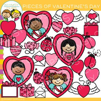 Pieces of Valentine's Day Clip Art