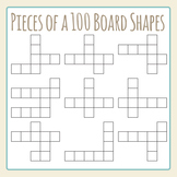 Pieces of a Hundred Board Challenge Shapes Clip Art Set for Commercial Use
