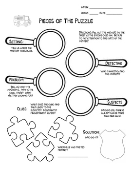 Pieces of the Puzzle: Mystery Worksheet