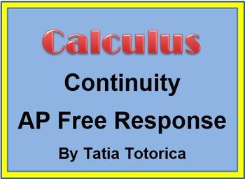 Piecewise Continuity Free Response Quiz