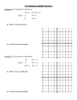Piecewise Defined Functions Notes