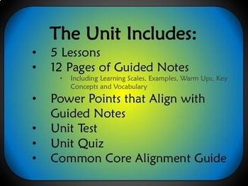 Piecewise-Defined Functions Unit for Algebra 1 Common Core