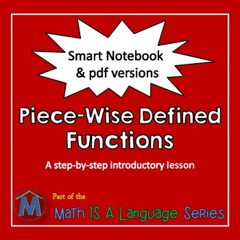 Piecewise Defined Functions - an introductory lesson