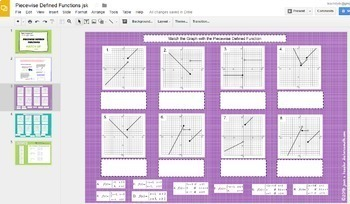 Piecewise Defined Functions  Interactive with GOOGLE Slides