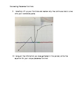 Piecewise Function Discovery Activity