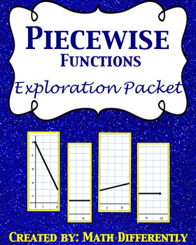Piecewise Function Exploration Packet