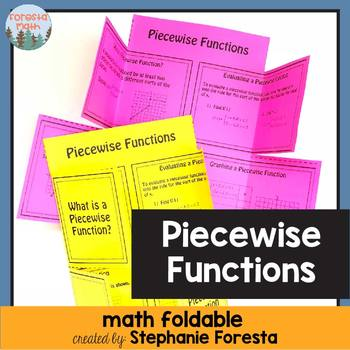 Piecewise Function Foldable
