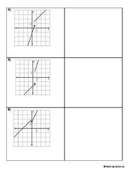 Piecewise Function Matching Activity
