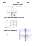 Piecewise Functions Pretest/ Post Test
