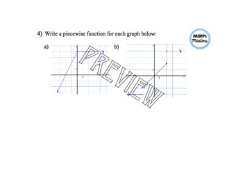 Piecewise Functions Lesson 1 of 2