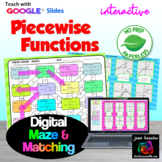 Piecewise Functions Maze and Matching Activities with Google  Distance Learning