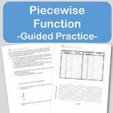 Piecewise Functions Guided Notes Lesson