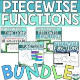 Piecewise Functions Activity Bundle