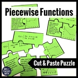 Piecewise Functions Cut-Out Puzzle