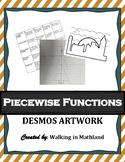 Piecewise Functions Desmos Artwork Activity (STEAM and Stu