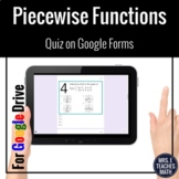 Piecewise Functions Digital Google Form