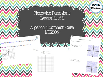 Piecewise Functions Lesson 2 of 2