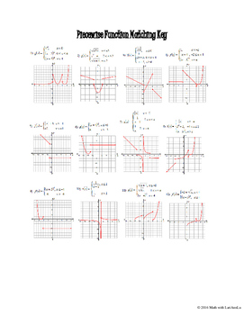 Piecewise Functions Matching