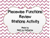 Piecewise Functions Review Stations Activity