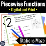 Piecewise Functions Stations Maze