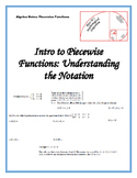 Piecewise Functions: Understanding the Notation