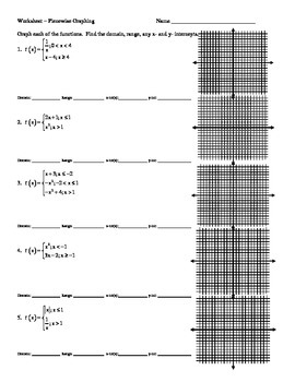 Piecewise Graphing Worksheet