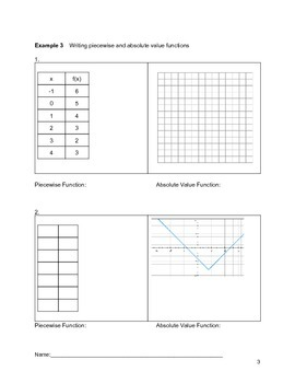 Piecewise and Absolute Value Functions Lesson 3 of 7