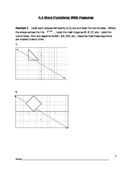 Piecewise and Absolute Value Functions Lesson 4 of 7