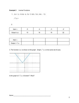Piecewise and Absolute Value Functions Lesson 5 of 7