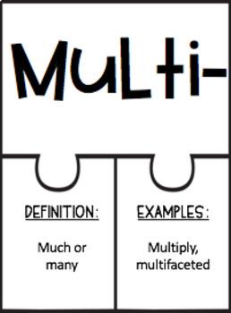 Piecing It Together: Prefix & Suffix BUNDLE (Middle School)