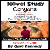 Canyons Novel Study and Project Menu; Plus Digital Option