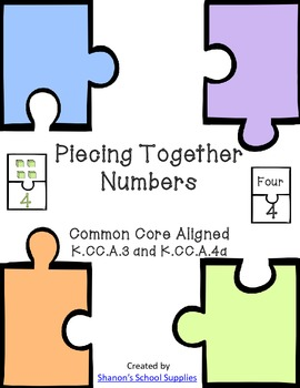 Piecing Together Numbers Center Pack- Common Core Resource