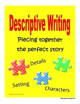 Descriptive Writing Graphic Organizers