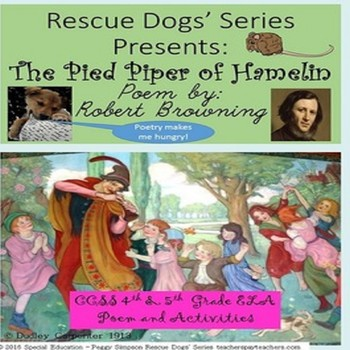 The Pied Piper of Hamelin Poem Robert Browning CCSS 4th &