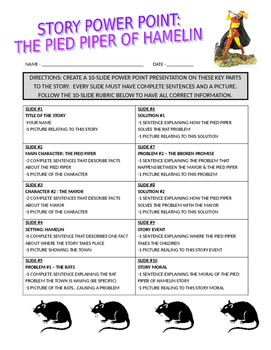 Pied Piper of Hamelin (story assignments)