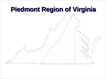 Piedmont Region of Virginia PowerPoint