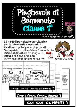 Pieghevole informativo classe 1