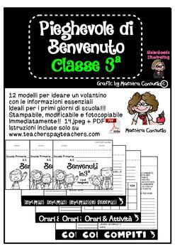 Pieghevole informativo classe 3